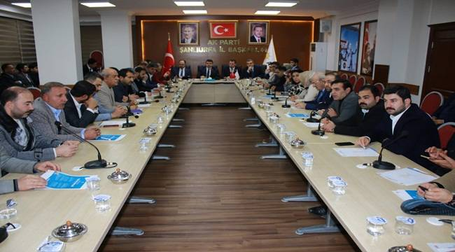 AK Parti Şanlıurfa Seçim Çalışmalarını Ele Aldı