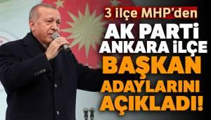 Cumhurbaşkanı Erdoğan Ankara İlçe Başkan Adaylarını Açıkladı