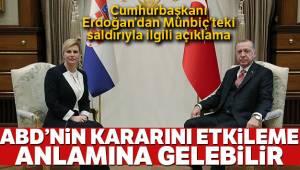 Erdoğan'dan Münbiç'teki Saldırıya İlişkin Açıklama