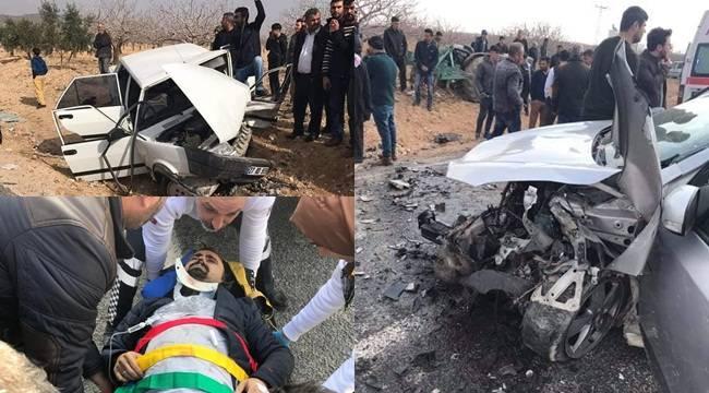 Halfeti'de Trafik Kazası 11 Yaralı