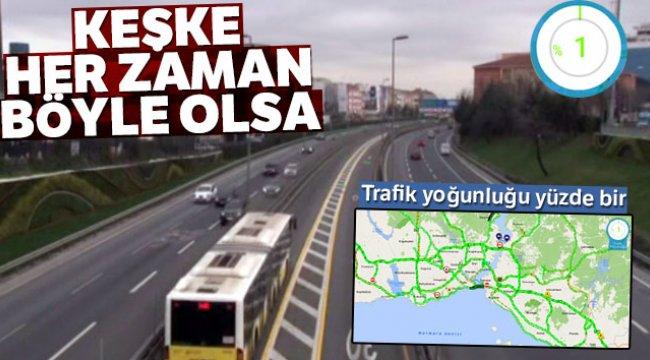 İstanbul'da yeni yılın ilk gününde yollar boş kaldı