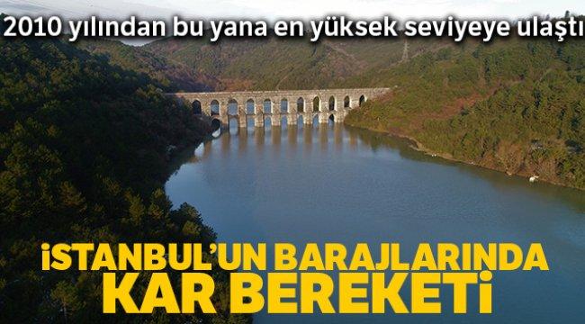 İstanbul'un barajlarında kar bereketi