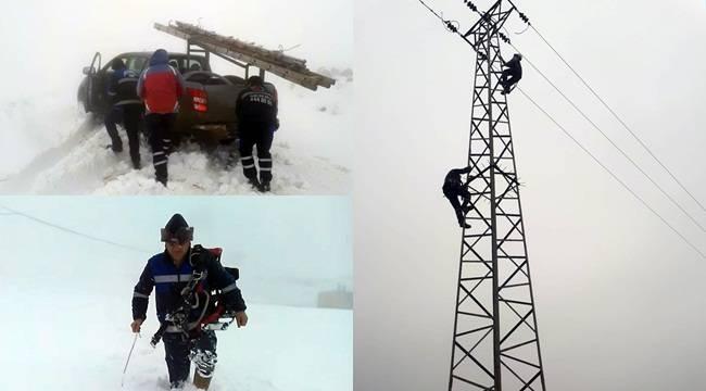 Karacadağ'da Elektrik İletim Hatları Koptu