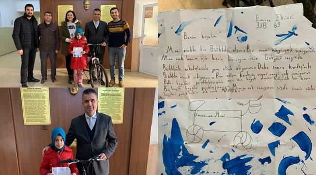 Mavi Renkli Bisiklet Hayali 3 yıl Sonra Gerçekleşti