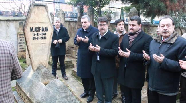 Mehmet Akif İnan Kabri Başında Anıldı