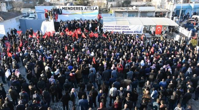 Menderes Atilla'yı Binlerce Kişi Karşıladı