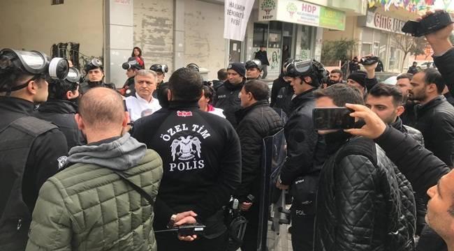 Birecik'te HDP'lilerin Yürüyüşüne İzin Verilmedi