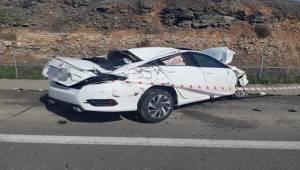 Birecik'te Otomobil Devrildi 3 Yaralı