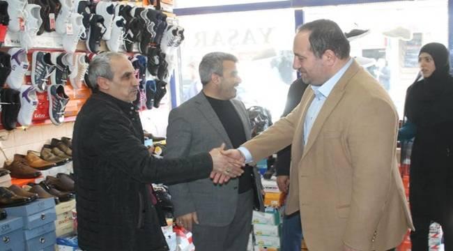 Ekinci Karacadağ Caddesi Esnafını Ziyaret Etti