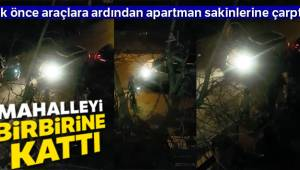 Maltepe'de kadın komşunun yaşattığı dehşet anları kamerada