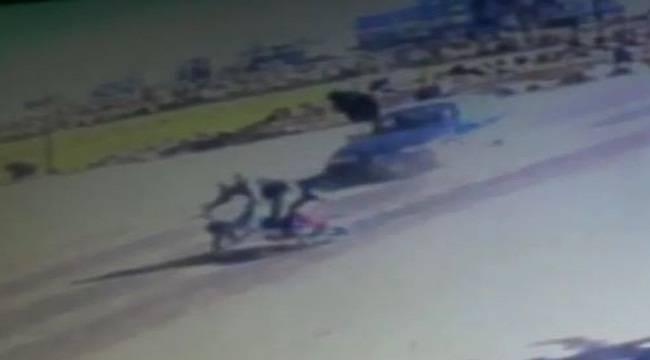 Motosiklet Metrelerce Sürükledi