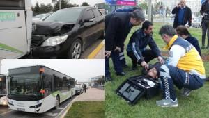 Urfa'da Otomobil Halk Otobüsüne Çarptı 3 Yaralı