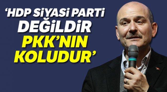 Bakan Soylu HDP siyasi parti değildir, PKK'nın koludur