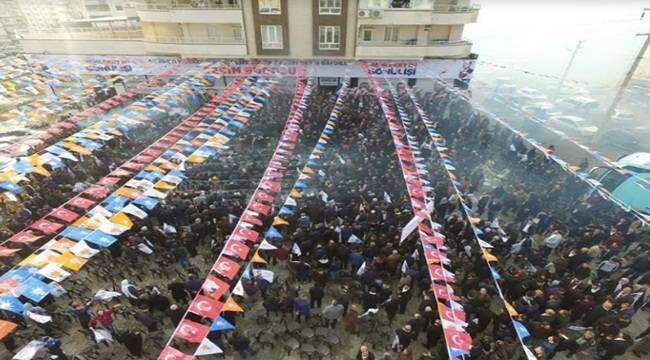 Baydilli'den Miting Gibi Seçim Bürosu Açılışı
