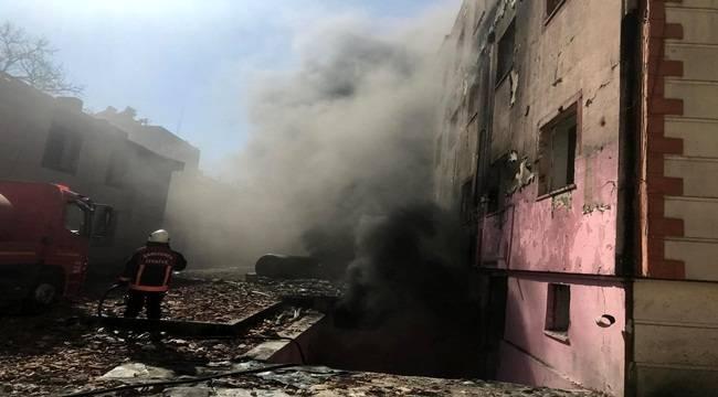 Birecik Eski Devlet Hastanesinde Yangın
