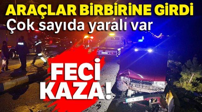 Isparta'da zincirleme trafik kazası: 21 yaralı
