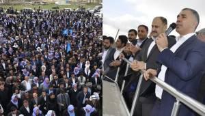 Karacadağ'da Ak Parti'ye destek mitingi