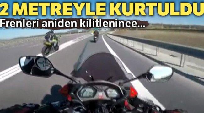 Kuzey Marmara Otoyolu'nda ölümden kıl payı kurtuldu