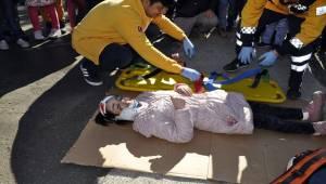 Mehmetçik İlkokulunda deprem ve yangın tatbikatı yapıldı