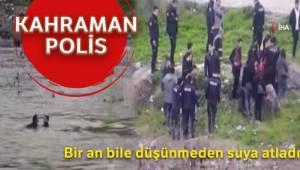 Polis, intihar etmek için nehre atlayan kadını kurtardı