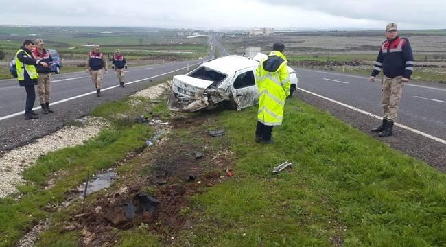 Şanlıurfa Siverek Yolunda Kaza 1 Yaralı