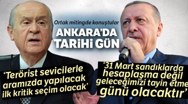 Tarihi Ankara mitinginde önemli açıklamalar