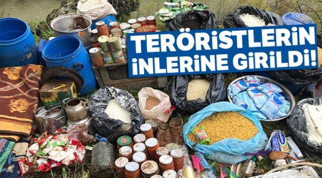 Diyarbakır'da teröristlerin inleri imha edildi!