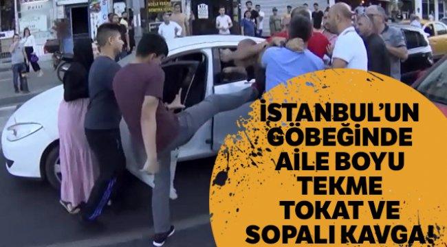 İstanbul'un göbeğinde tekme tokat kavga