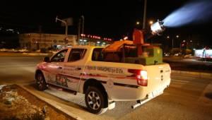 Karaköprü'de gece ilaçlaması aralıksız sürüyor