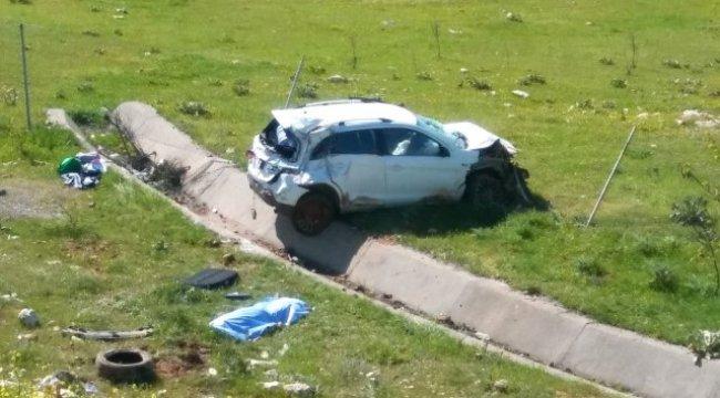 Kontrolden Çıkan Otomobil Dehşet Saçtı 1 Ölü, 3 Yaralı