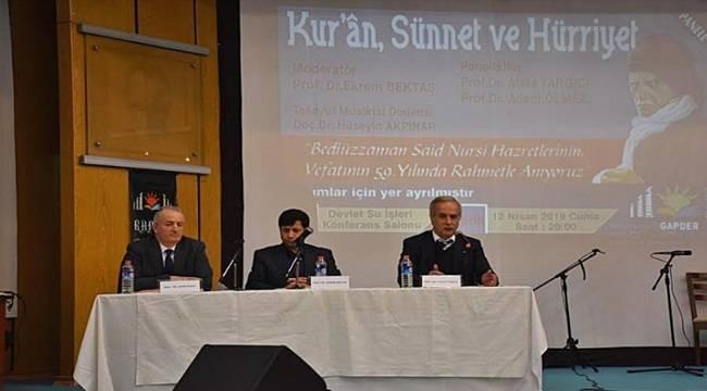 Said Nursi Anma Programı ve Paneli Düzenlendi