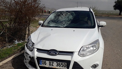 Şanlıurfa'da trafik kazası 2 yaralı