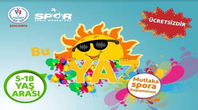 Şanlıurfa'da Ücretsiz Yaz Spor Okulları Başvuruları Başladı