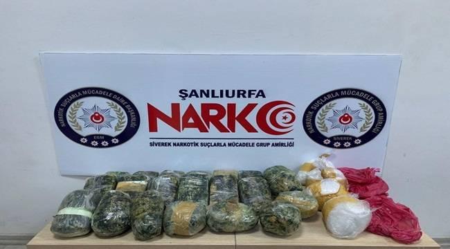 Siverek'te 13 Kilo Uyuşturucu Ele Geçirildi