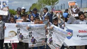 Siverek'te Trafik Haftası'nda 'öncelik yayanın' etkinliği