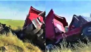 Tır ile Traktör Çarpıştı 2 Yaralı