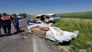 Urfalı Tarım İşçileri Kaza Yaptı 1 Ölü 7 Yaralı