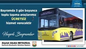 Bayramda 3 Gün Toplu Taşıma Ücretsiz