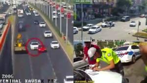 Makas Atan Otomobil Sürücüsüne Ceza Kesildi