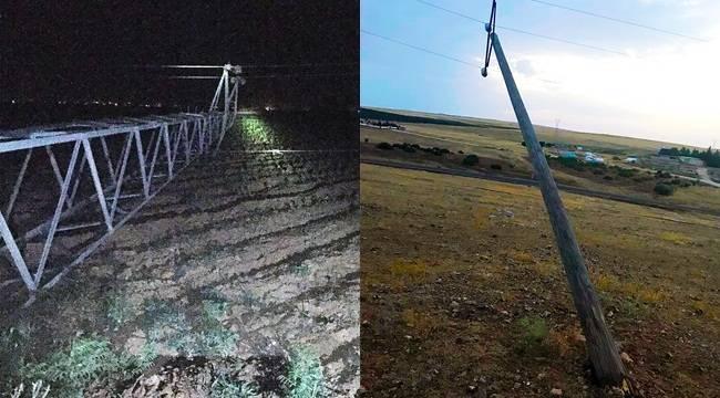 Şanlıurfa'da Elektrik Hatları Koptu