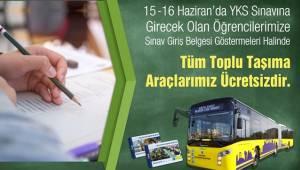 Şanlıurfa'da YKS sınavı için ulaşım ücretsiz olacak
