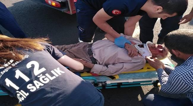 Siverek-Diyarbakır Yolunda Kaza 1 Ağır Yaralı