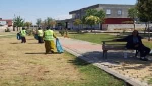 Viranşehir'de Parklara Genel Bakım Yapılıyor