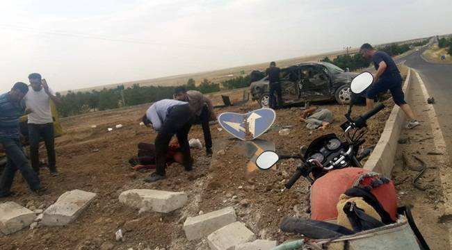 Viranşehir-Kızıltepe-Akçakale Kavşağında Kaza 1 Ölü 7 Yaralı