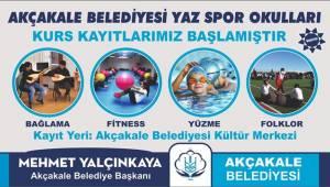Akçakale'de Yaz Spor Okulları Kayıtları Başladı