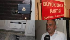 Şanlıurfa BBP Binasında Hırsızlık