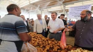 Büyükşehir Semt Pazarına Püskürtme Sistemi Kurdu