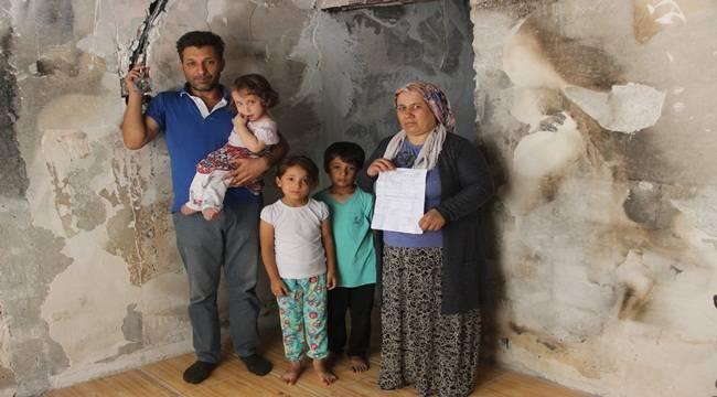 Evleri Kül Olan Aile Yardım Bekliyor