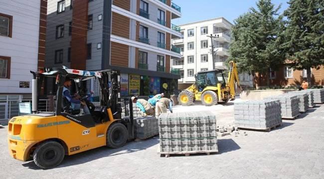 Osman Gazi Mahallesinde Beton Parke Çalışması