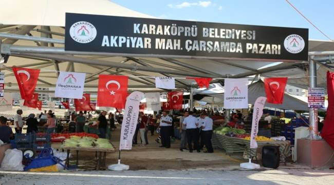 Akpiyar Semt Pazarı Hizmete Açıldı